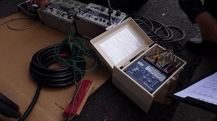 高圧受電設備更新工事 PAS(高圧気中負荷開閉器)ケーブル