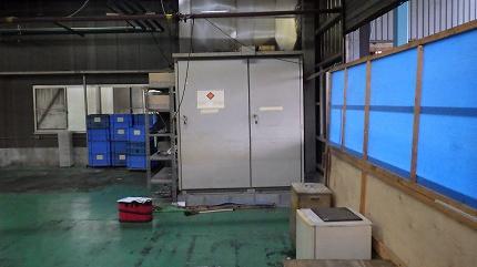 工場移転に伴う、自家用設備改修工事 第二CUB撤去作業
